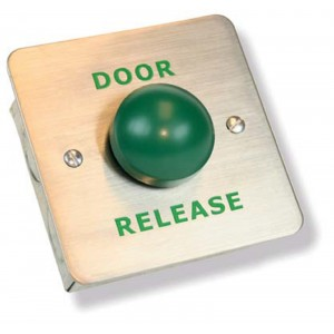Stainless Steel Door Release Green Dome Button